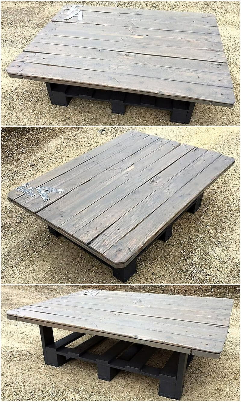 recycled pallet table plan
