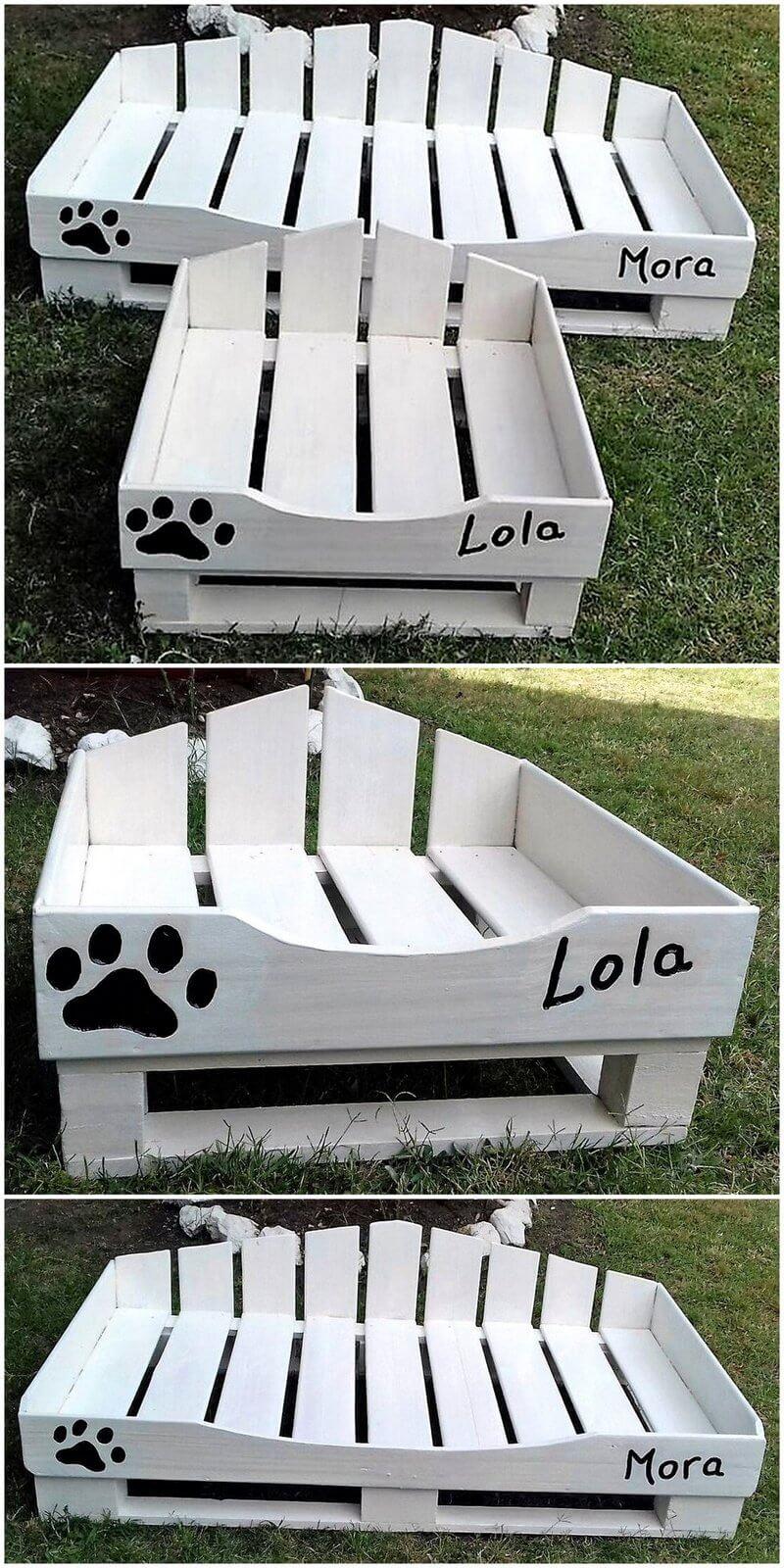 repurposed wood pallet dog beds