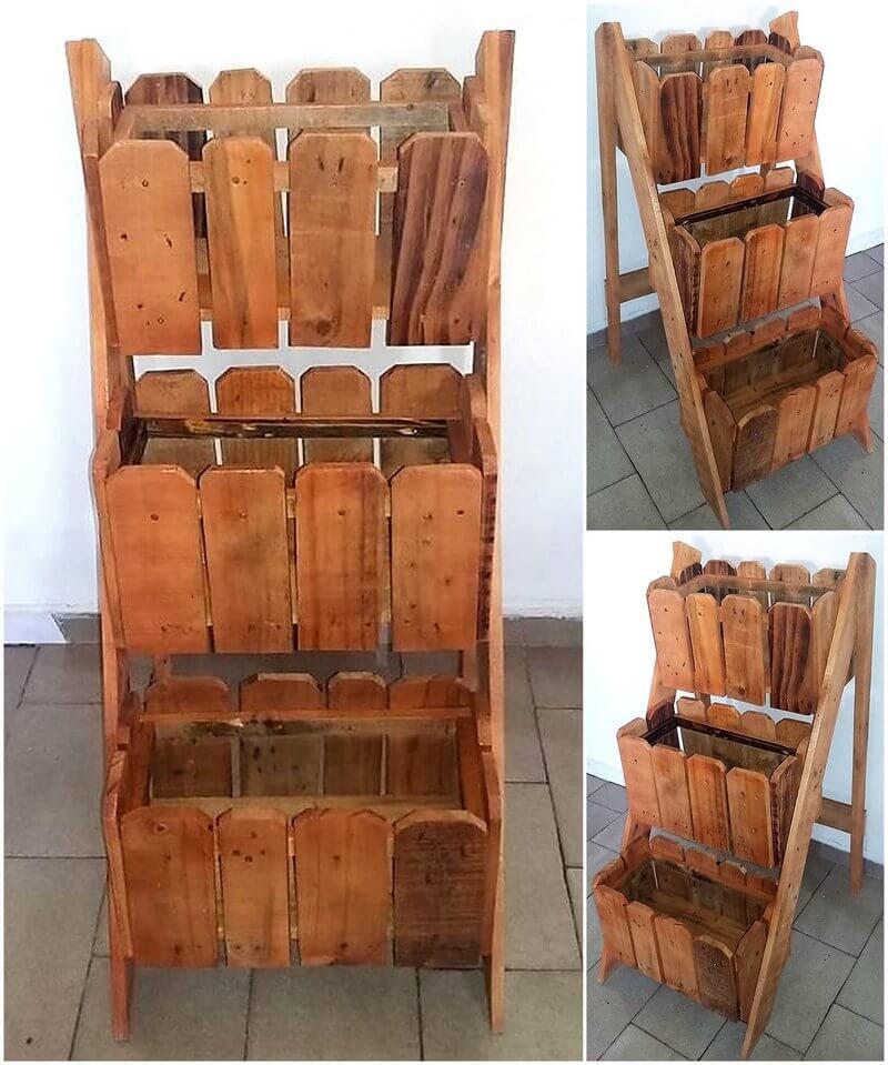 repurposed wood pallet planter