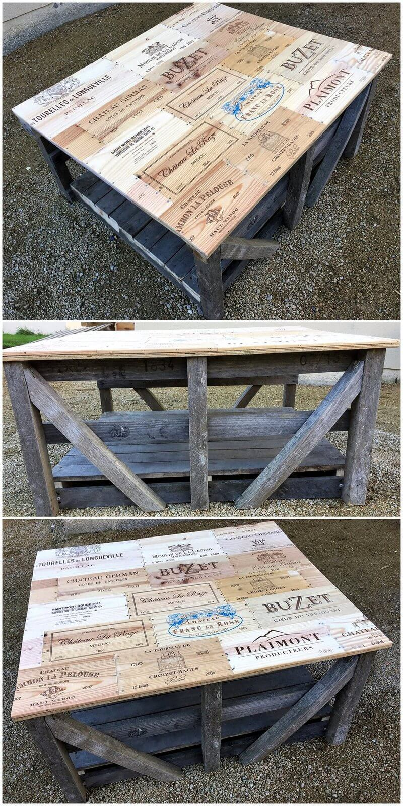 reused pallet table