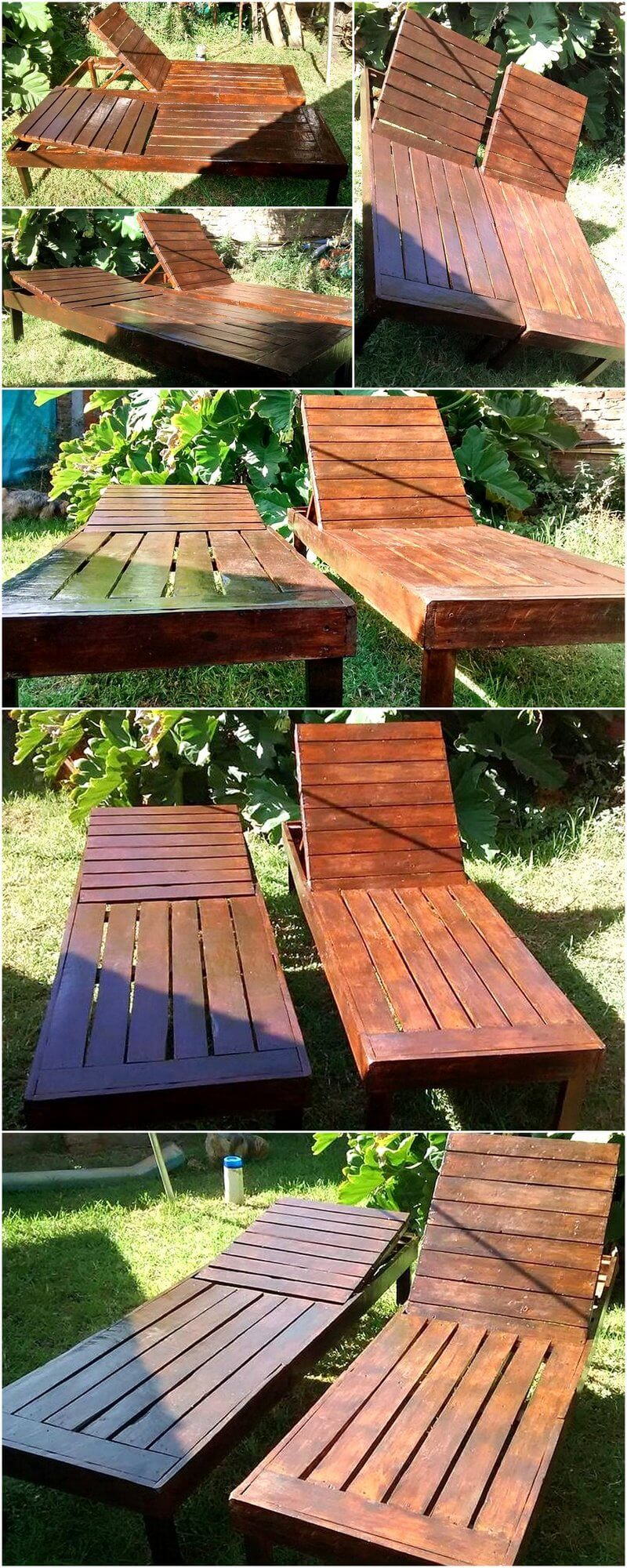 reused pallets sun loungers