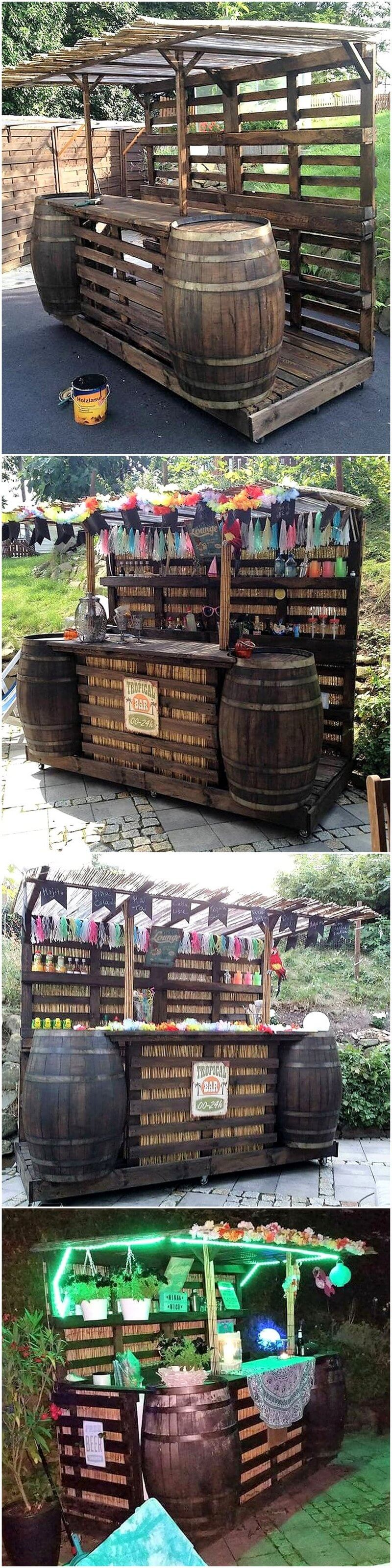wood pallet Cocktail Bar