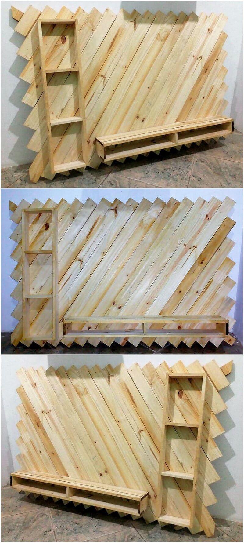 wood pallet LED holder stand