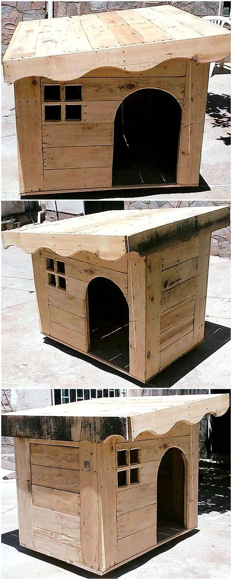 wood pallet dog house project