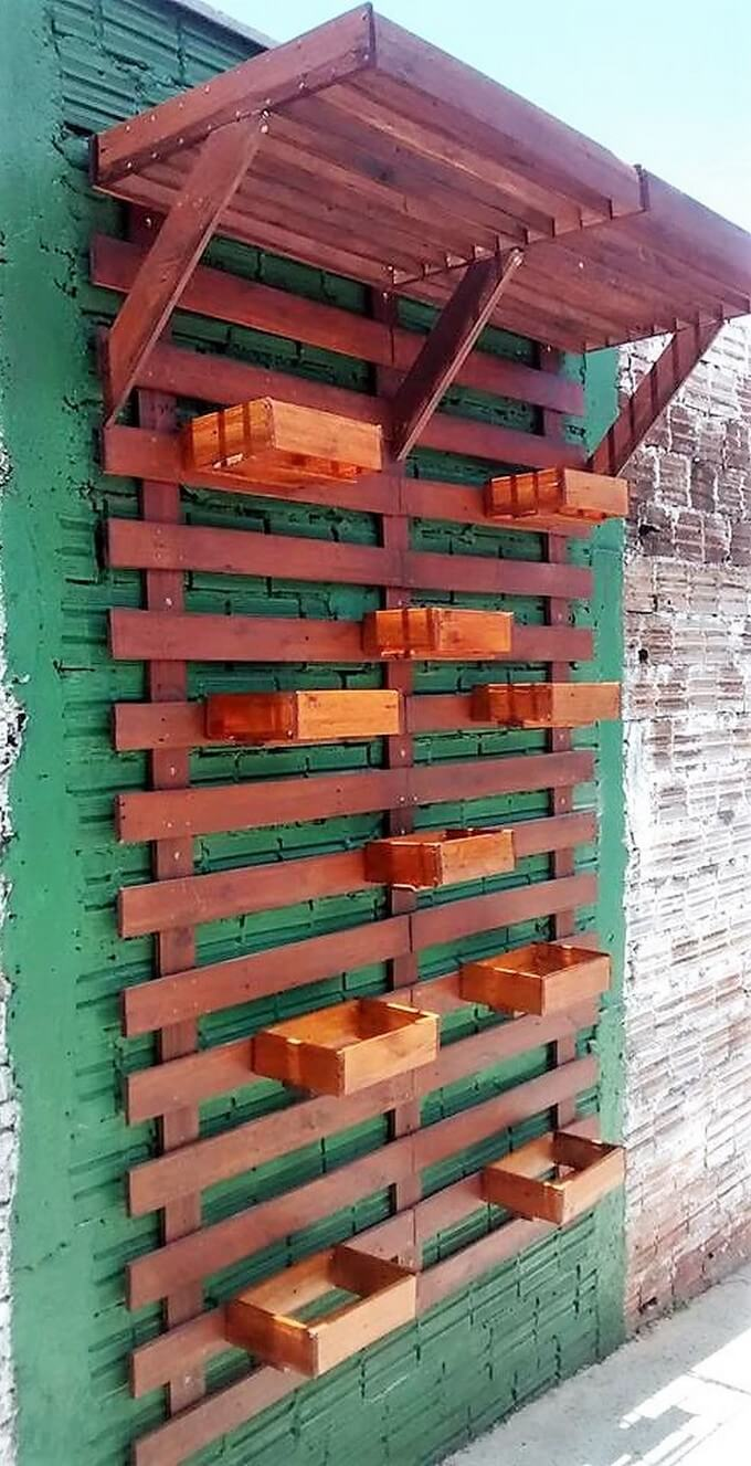 wood pallet wall planter idea
