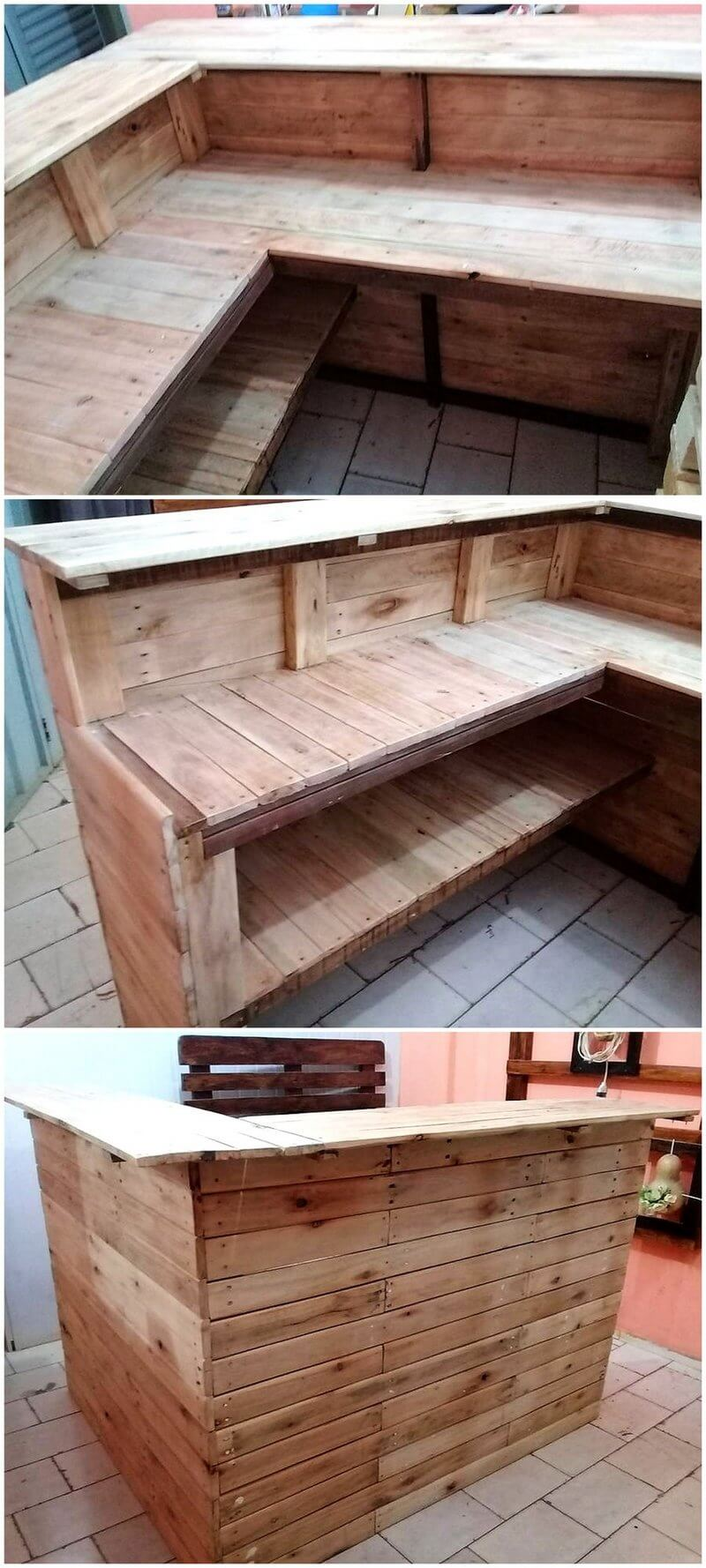 wood pallets made bar