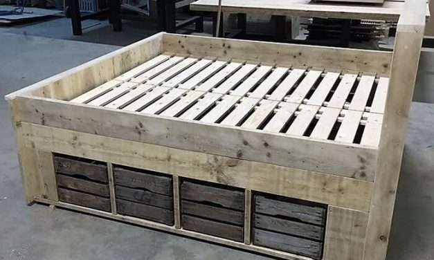 Giant Pallet Bed with Storage Plan