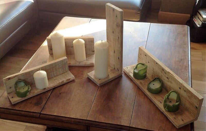 wooden pallet candles art