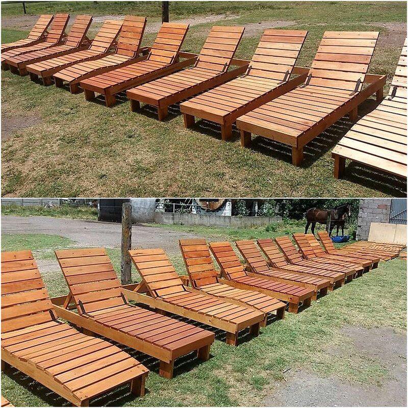 wooden pallet sun loungers