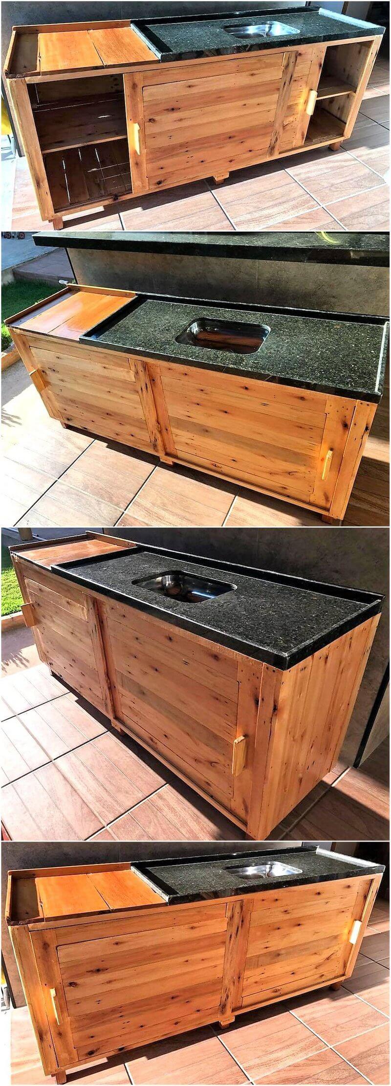 wooden pallets kitchen plan