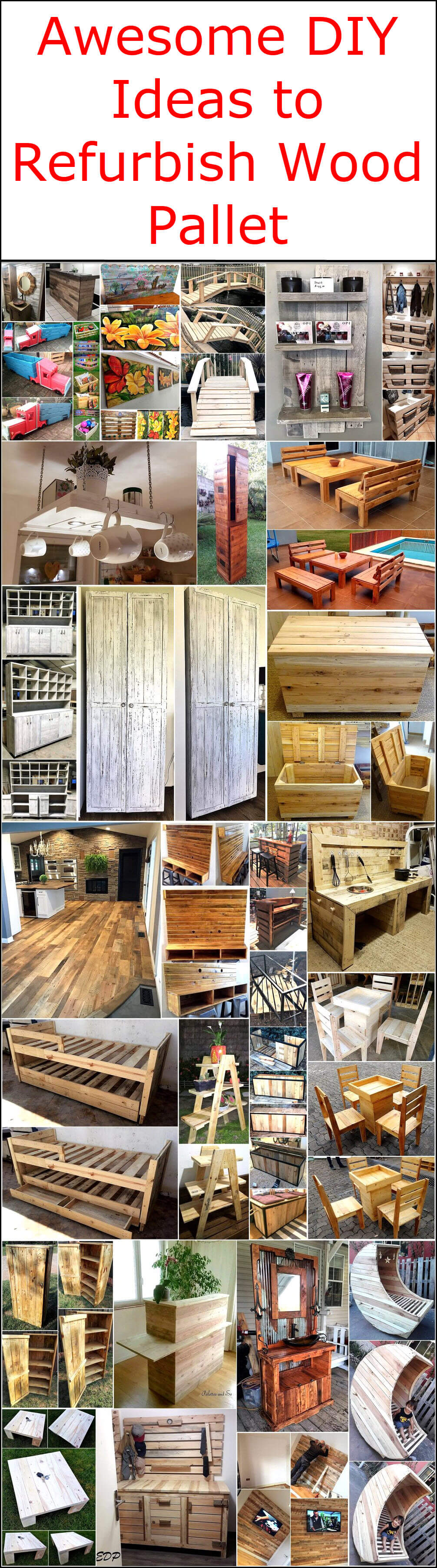 Awesome Diy Ideas To Refurbish Wood Pallet Wood Pallet