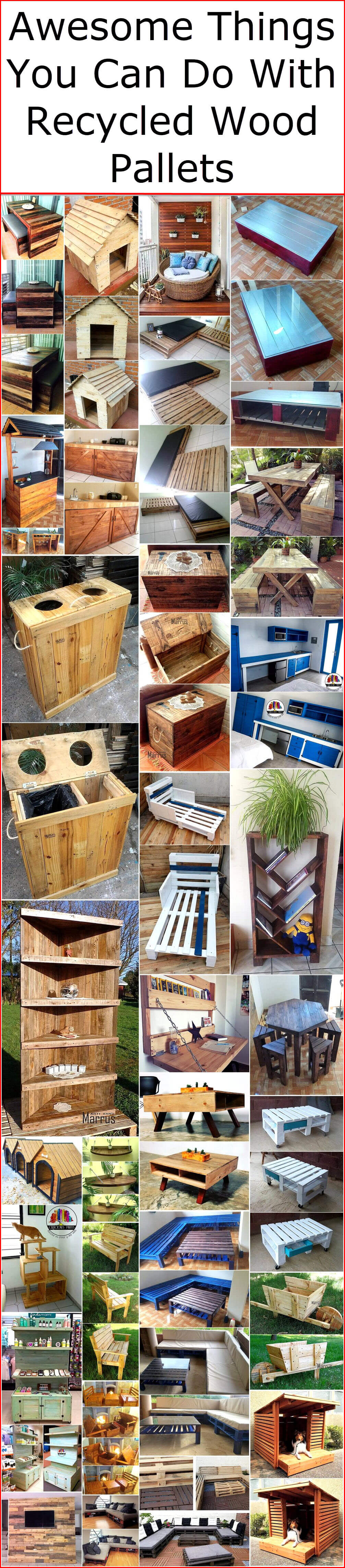 Awesome Things You Can Do With Recycled Wood Pallets