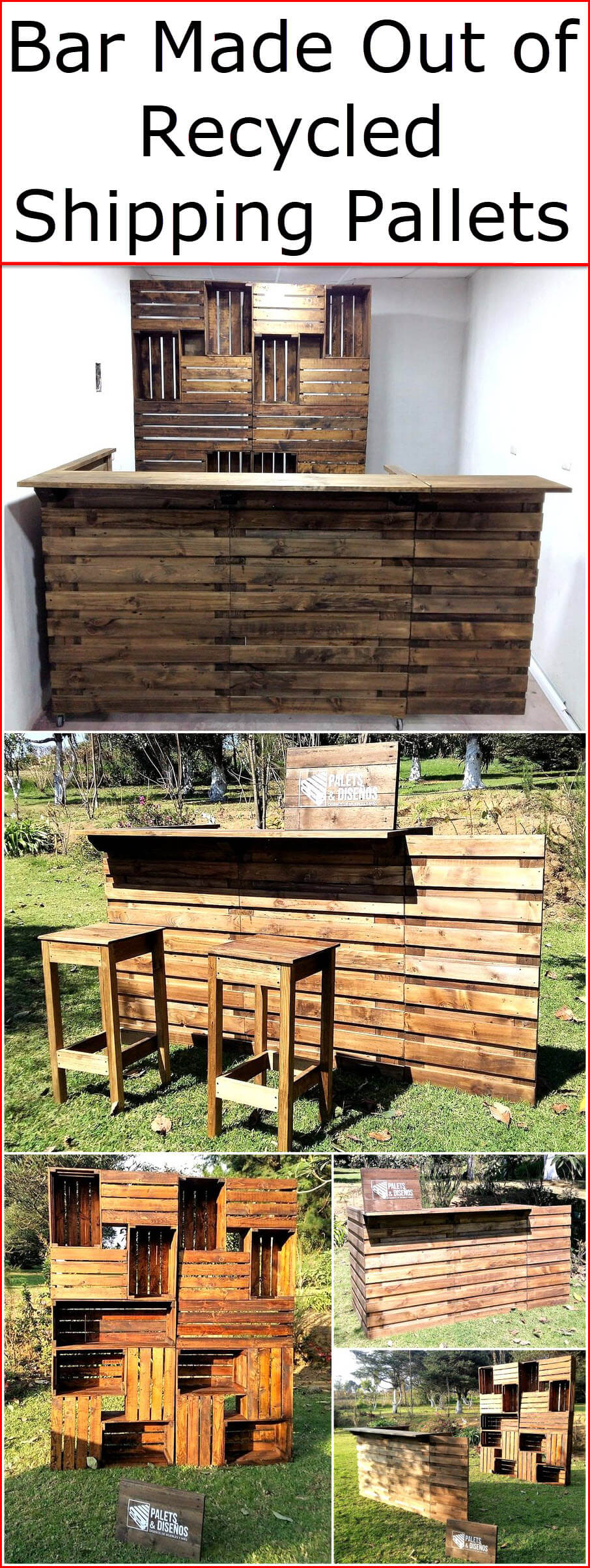 Bar Made Out of Recycled Shipping Pallets