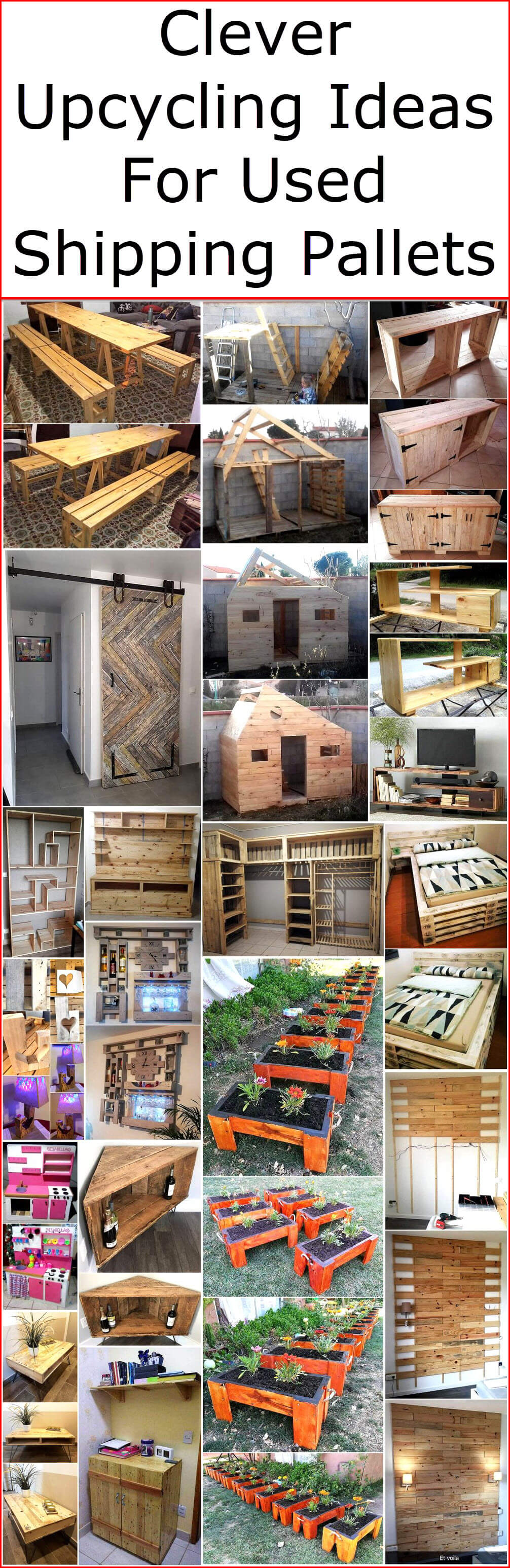 Clever Upcycling Ideas For Used Shipping Pallets