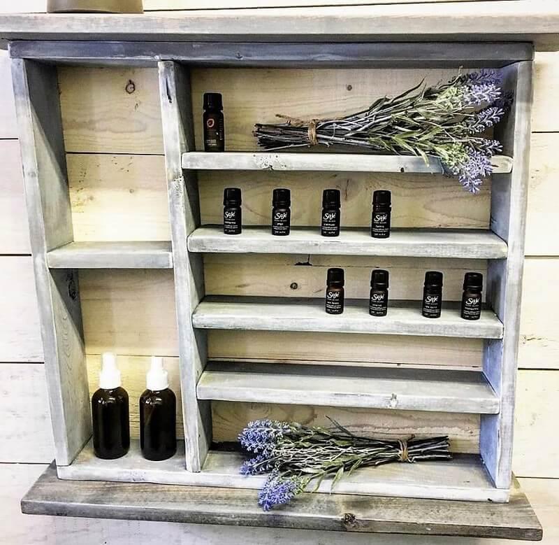 Pallets Essential Oil Custom Shelf
