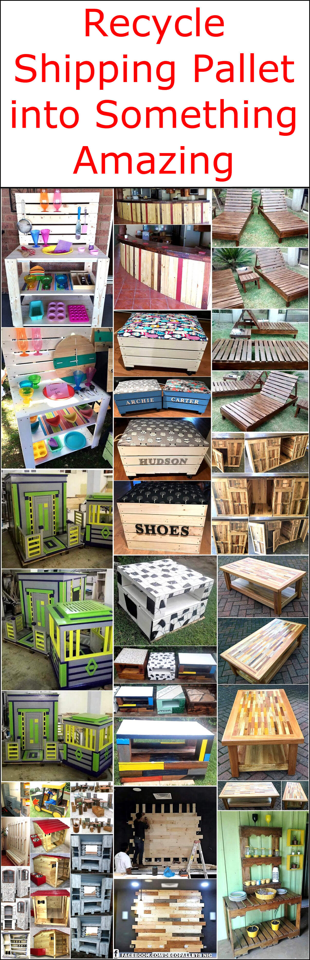 Recycle Shipping Pallet into Something Amazing
