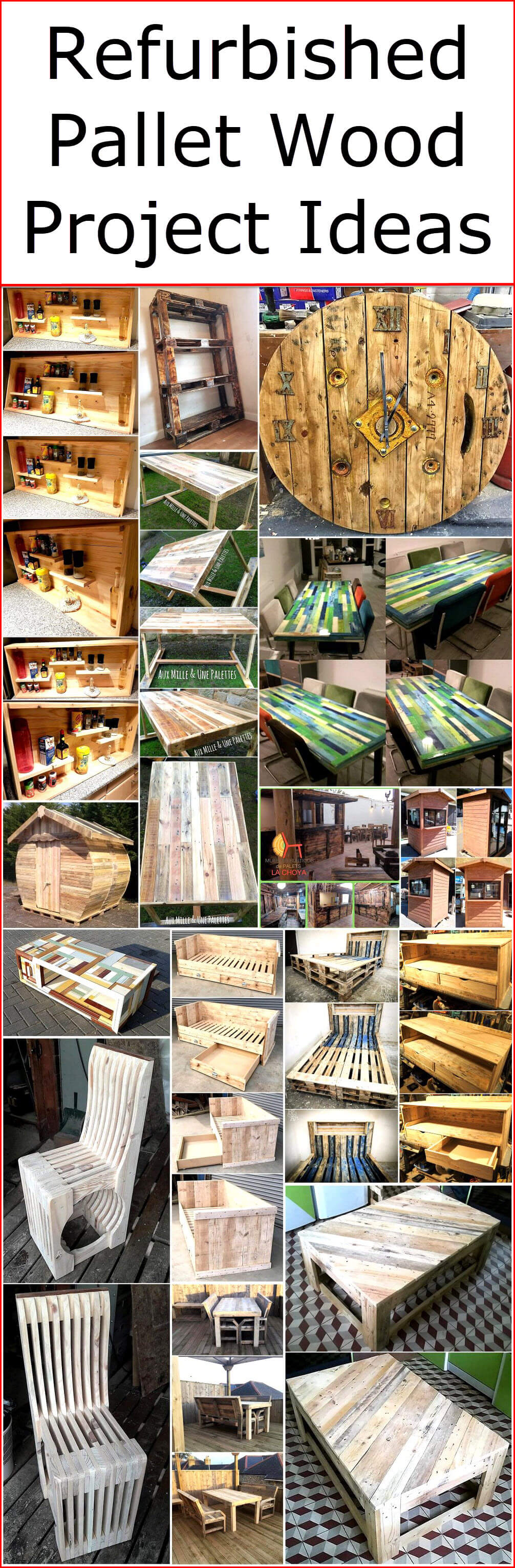 Refurbished Pallet Wood Project Ideas
