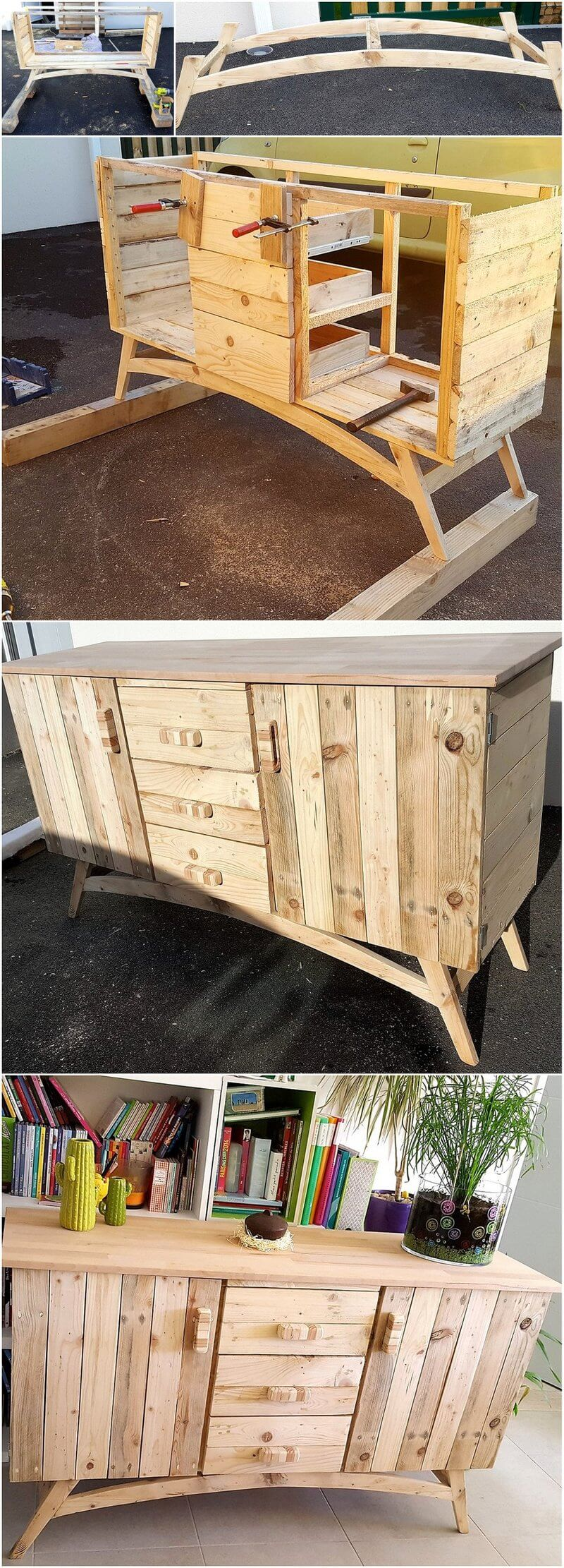 diy pallets wooden rustic entryway table idea