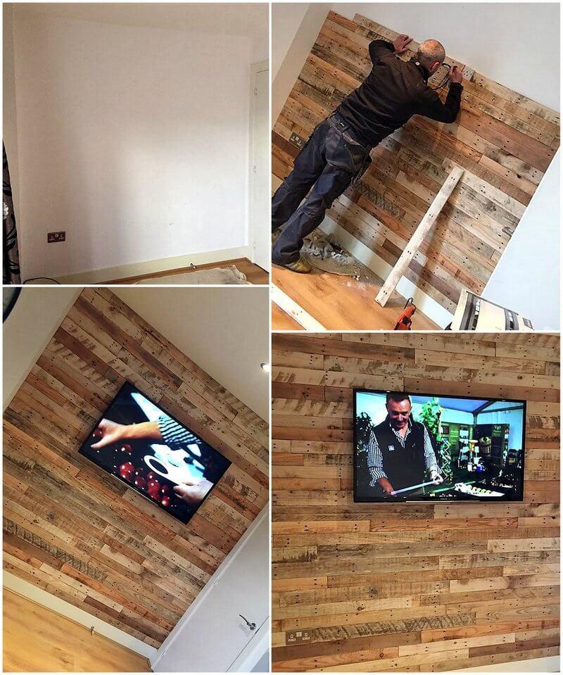 diy wood pallet wall cladding
