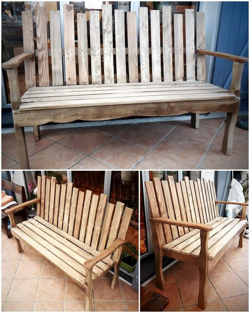 old pallet bench idea