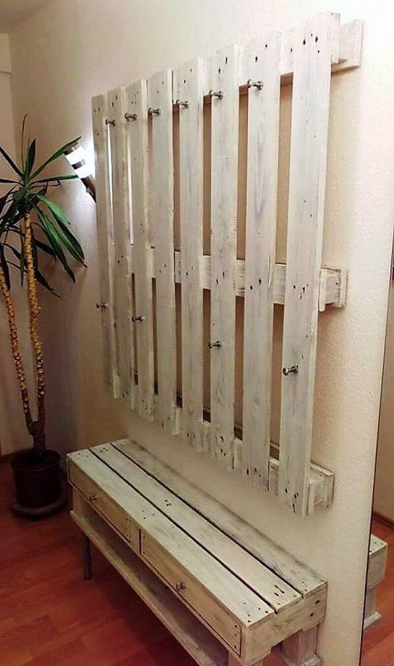 pallet entryway rustic creation