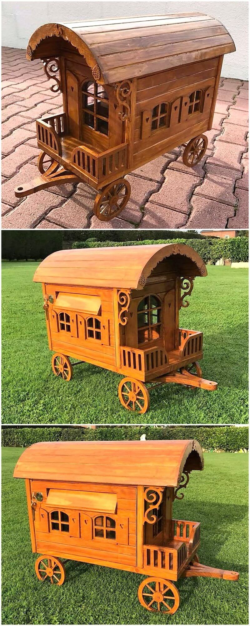 pallet kids playhouse idea