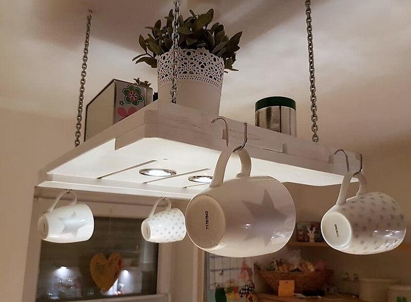 pallet kitchen hanging shelf