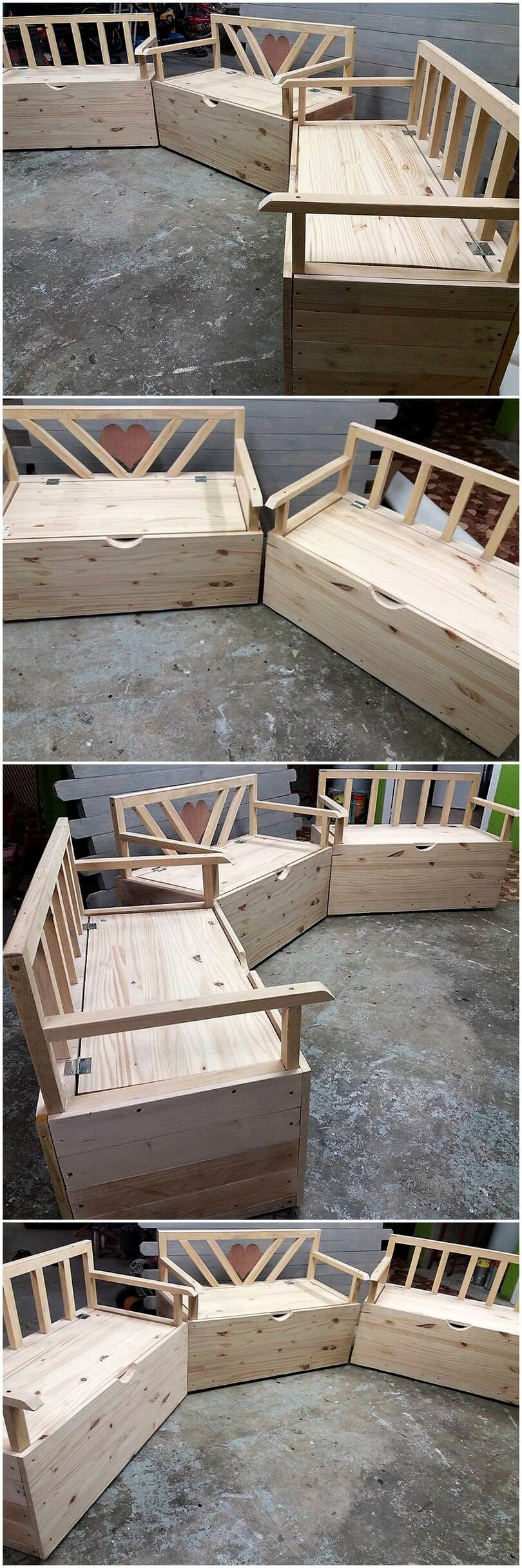pallet sofa set with storage option