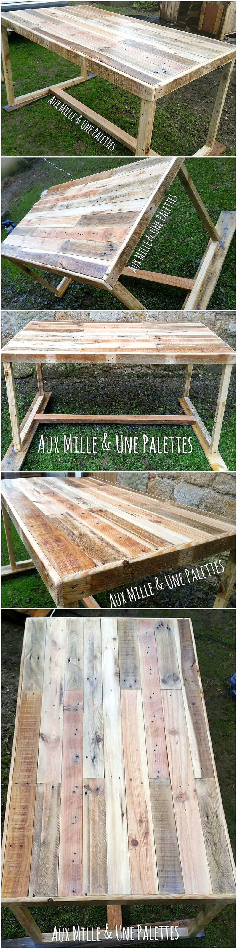 pallet wooden table idea
