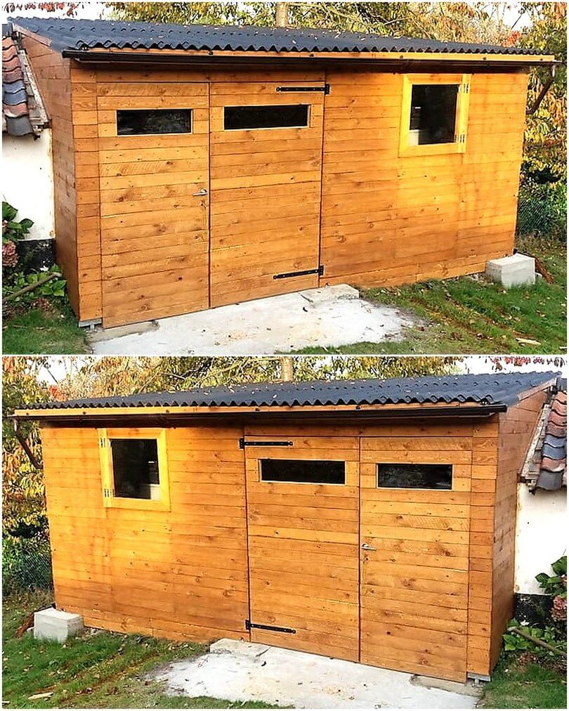 pallet workshop shed