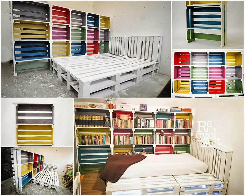 pallets bookshelving plan