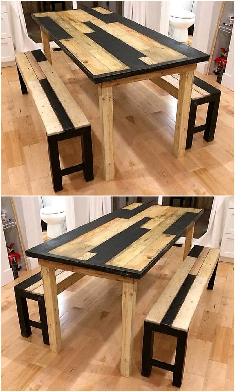 pallets made dining set