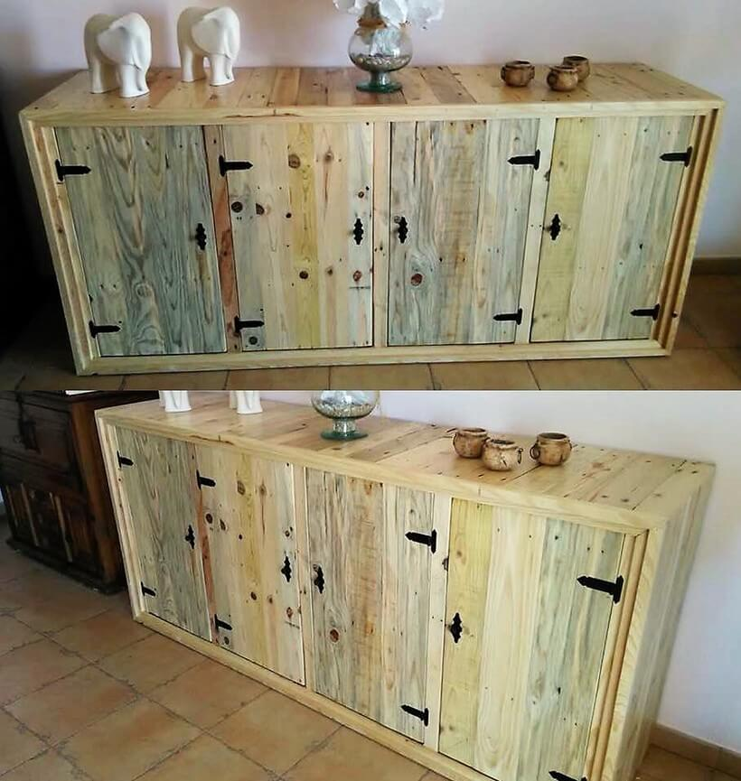 pallets made entryway table
