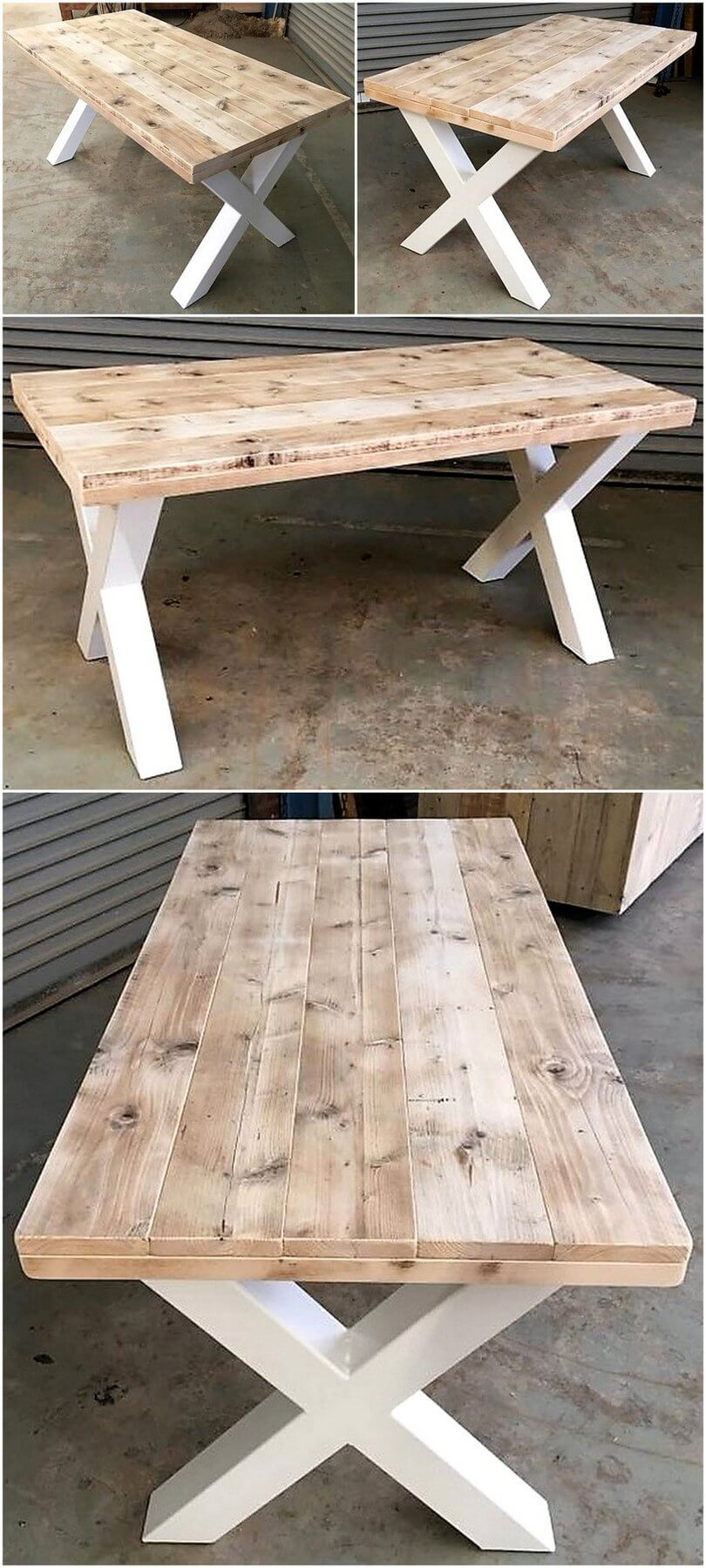 reclaimed pallets dining table