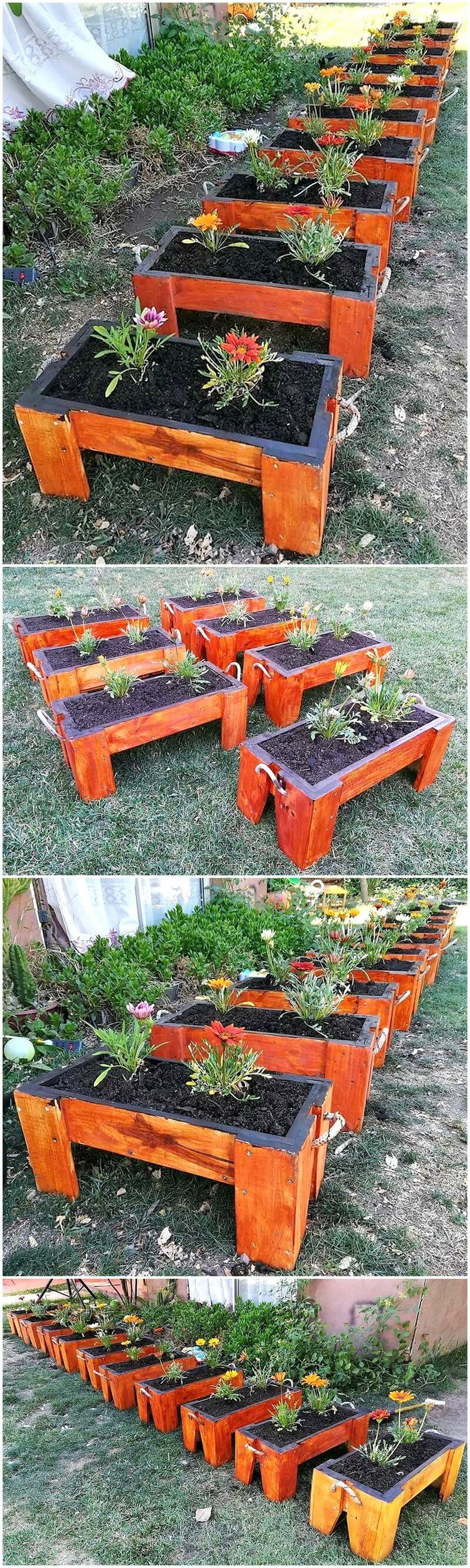 recycled pallet planters