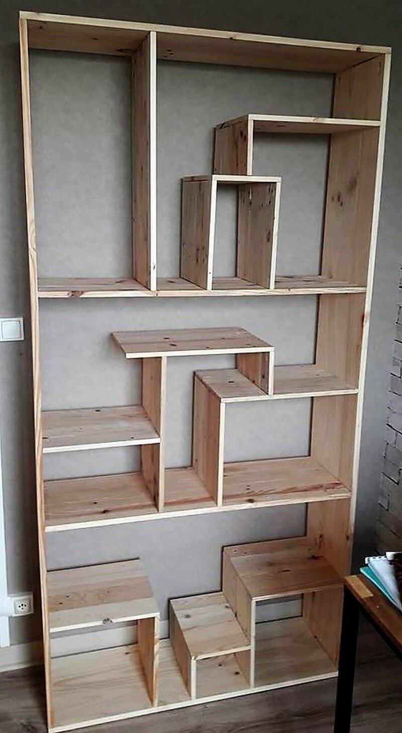 recycled pallet wardrobe art