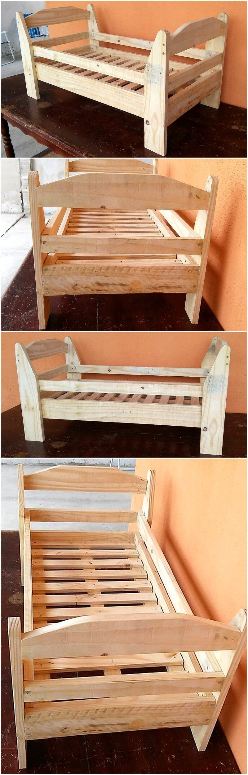 recycled pallets baby bed
