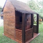 Kids Garden Playhouse Made with Pallet Wood