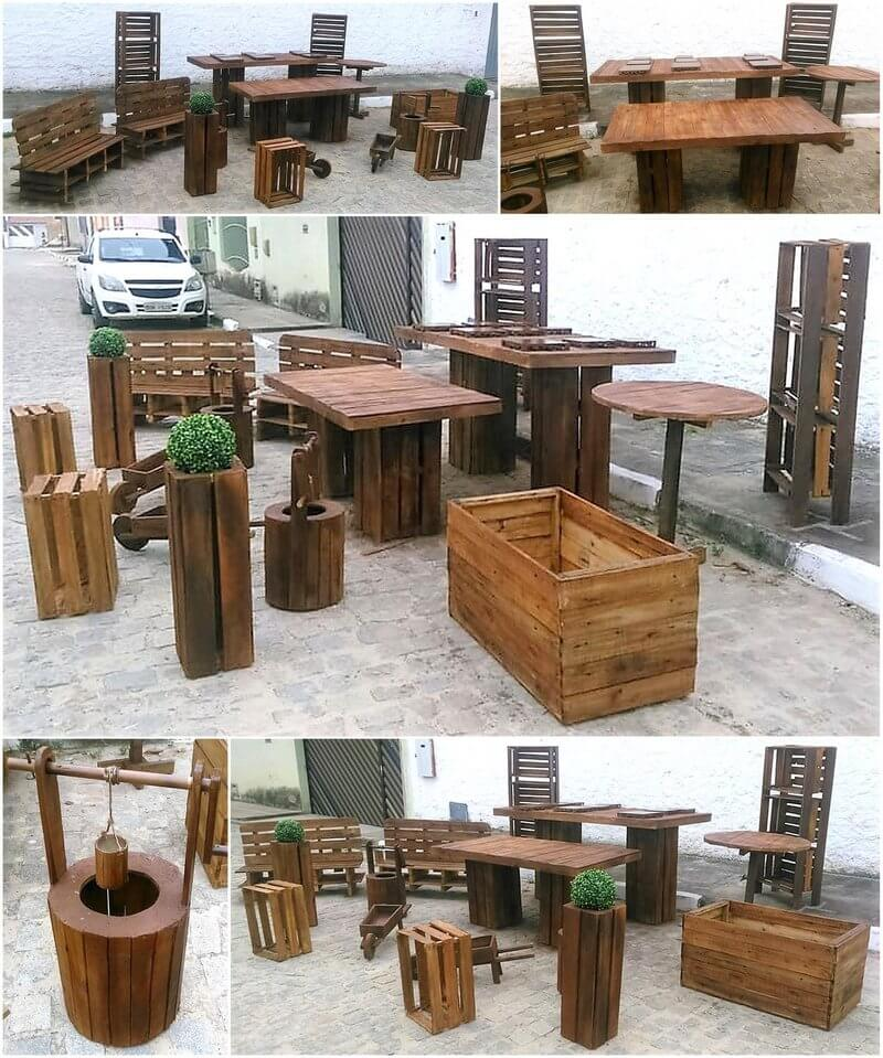 recycled pallets rustic pallet garden collection