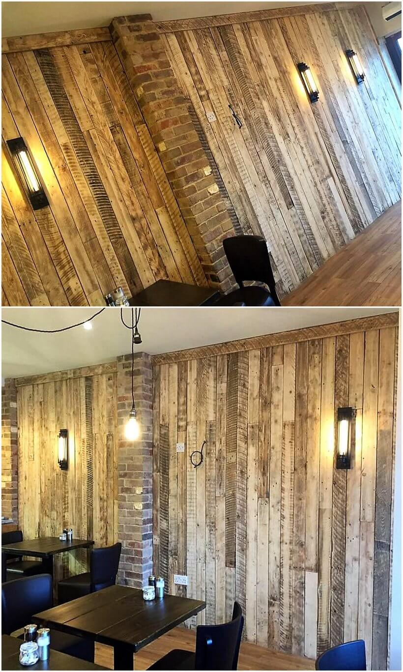 recycled pallets wall art