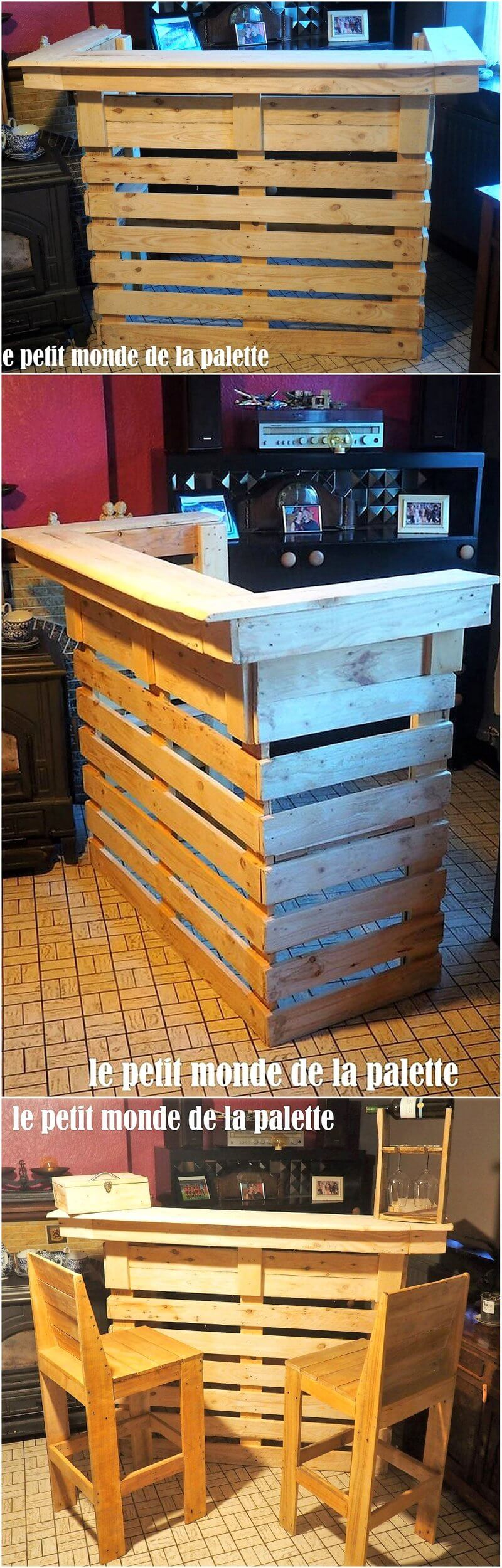 repurposed pallet bar plan