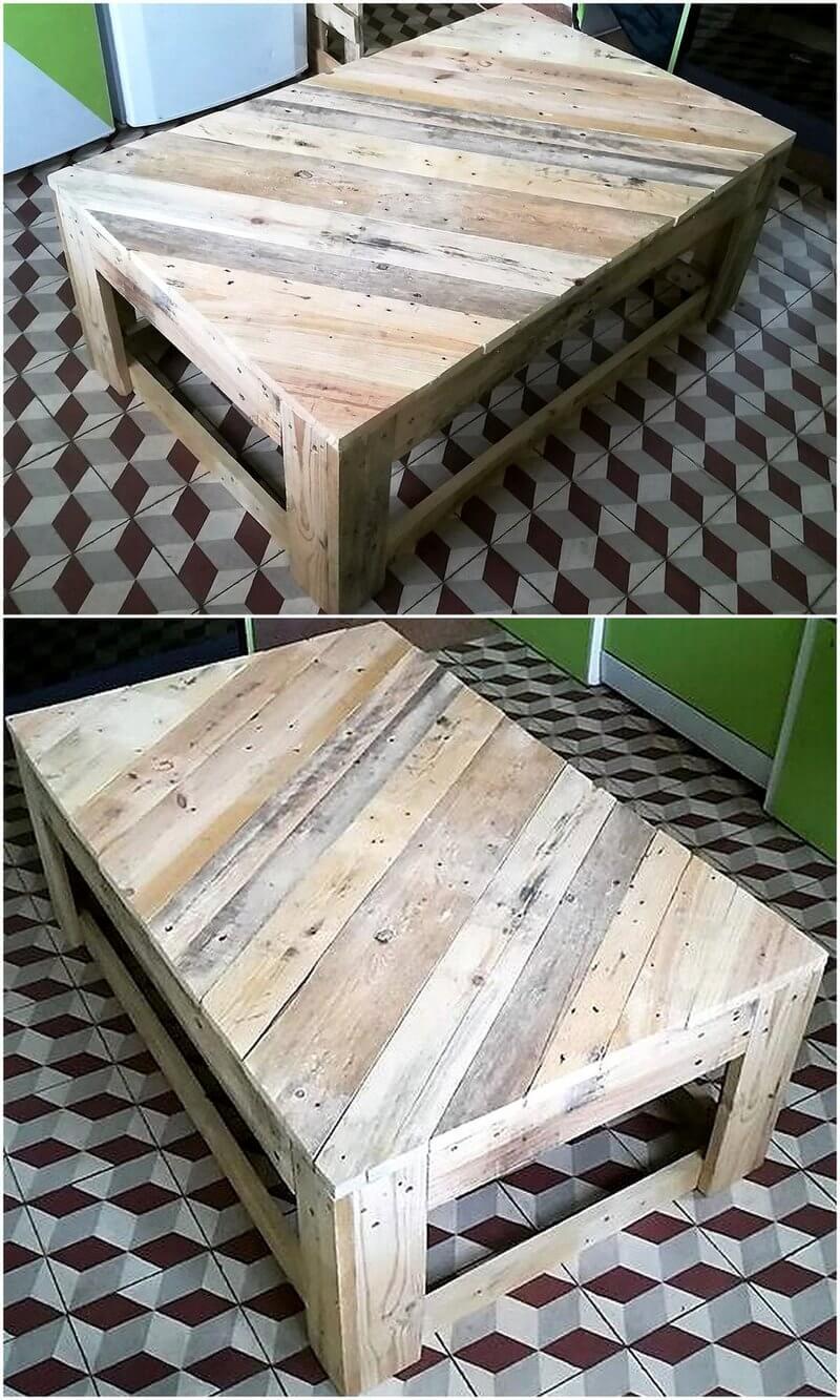 repurposed wood pallet table idea
