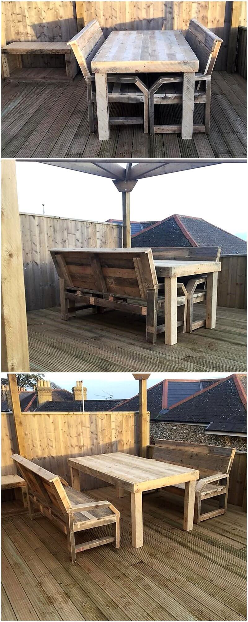 terrace furniture out of pallet wood 4