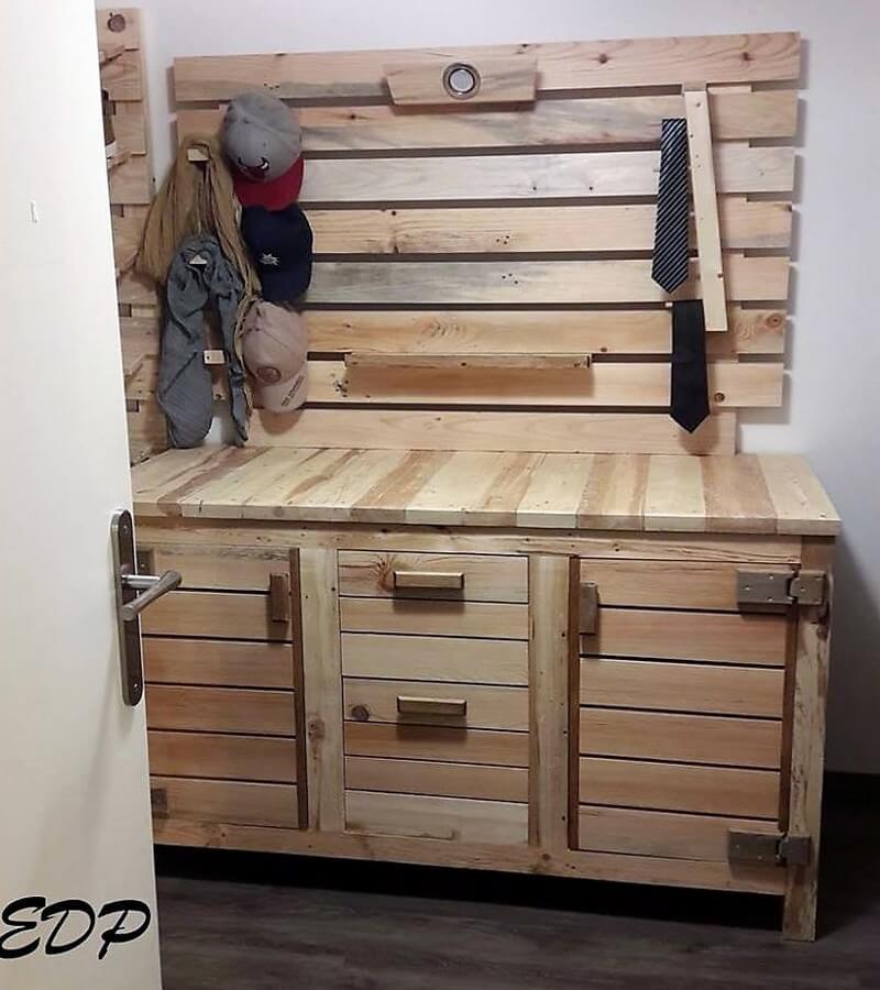 wood pallet dresser table