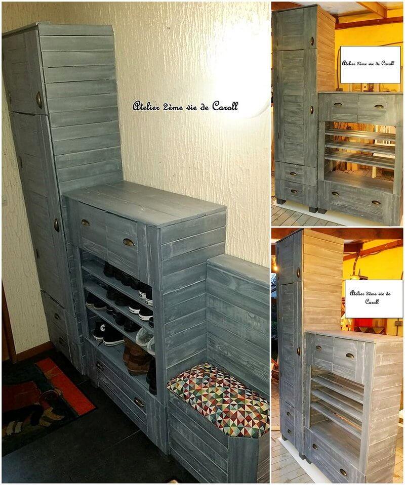 wood pallet dressing room