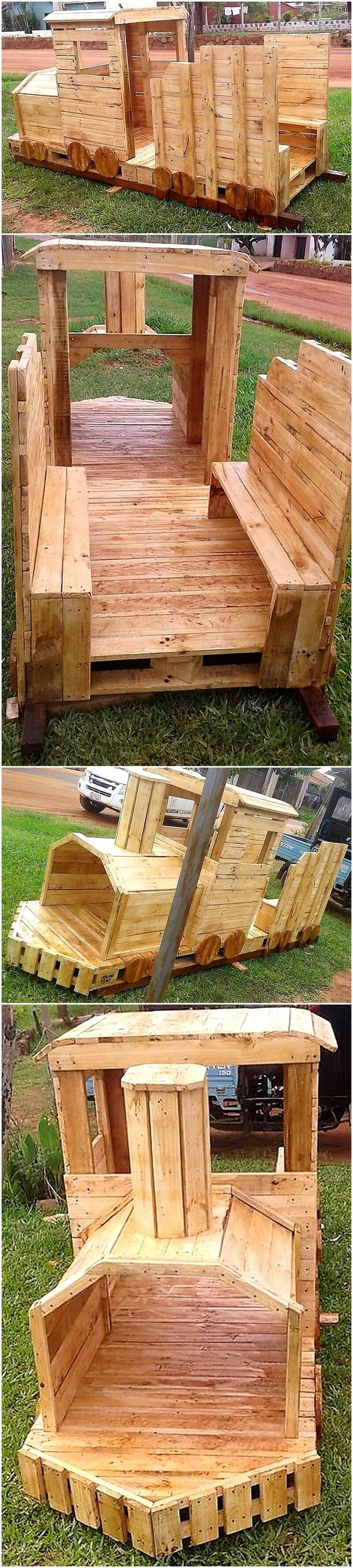 wood pallet engine for kids play