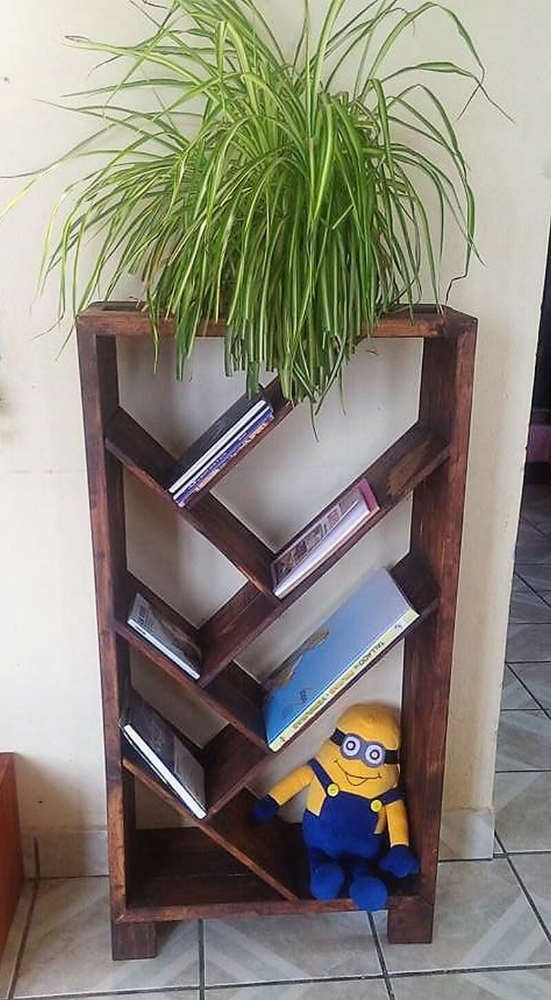 wood pallet shelf art