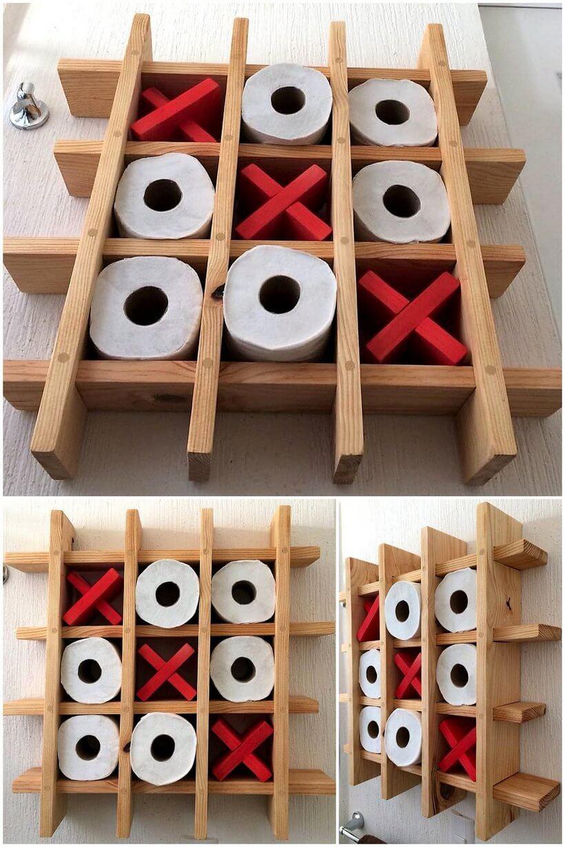 wood pallet shelf idea