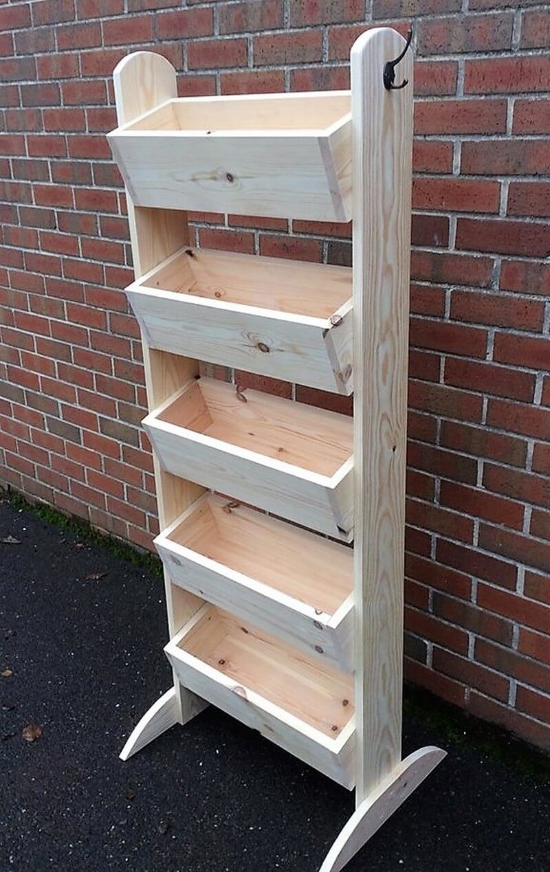 wood pallet veg rack