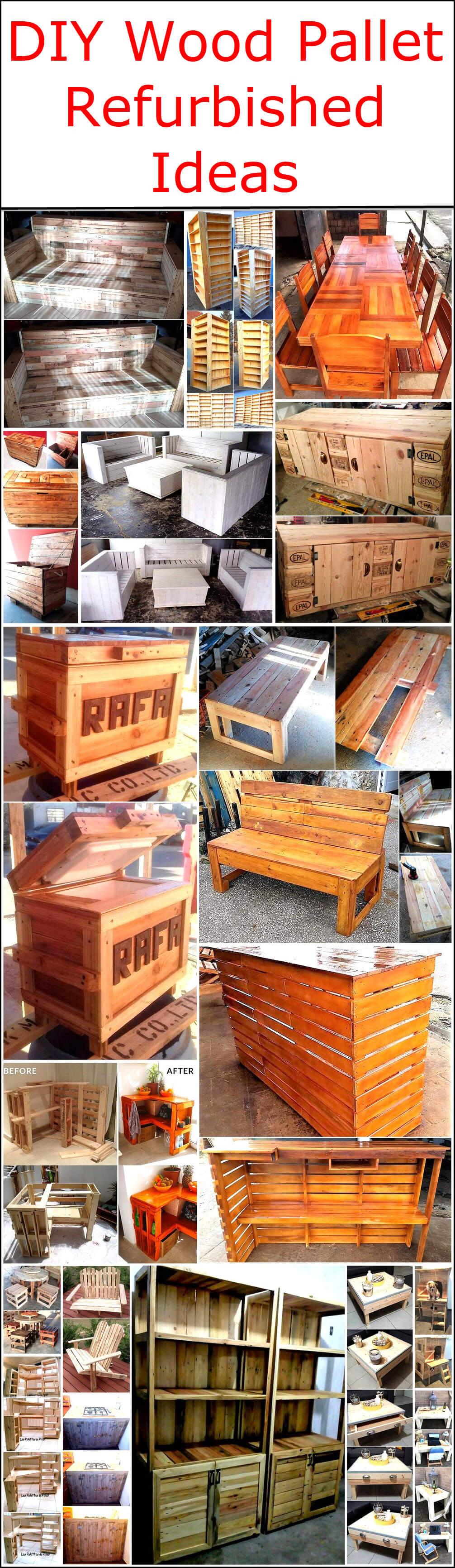 DIY Wood Pallet Refurbished Ideas